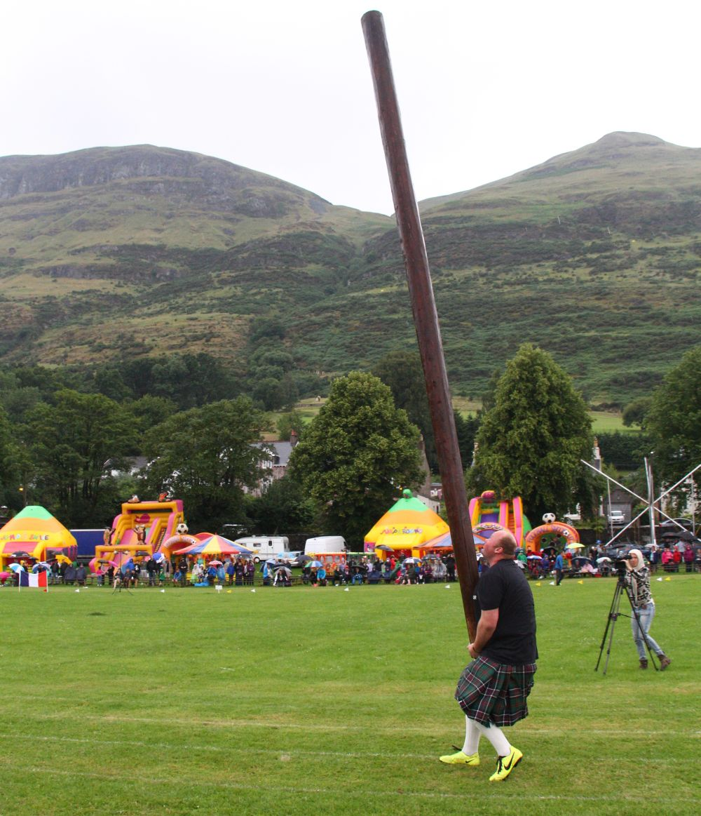 The caber's not for turning!